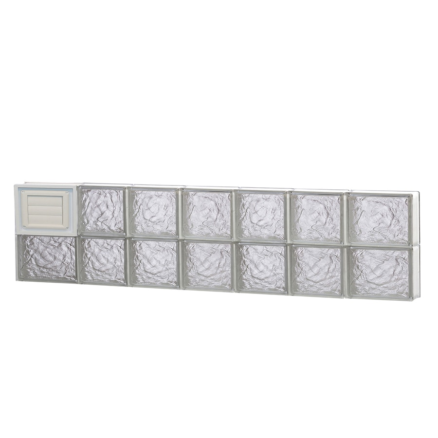REDI2SET Ice Glass Pattern Frameless Replacement Glass Block Window (Rough Opening: 46-in x 12-in; Actual: 44.2500-in x 11.5000-in)