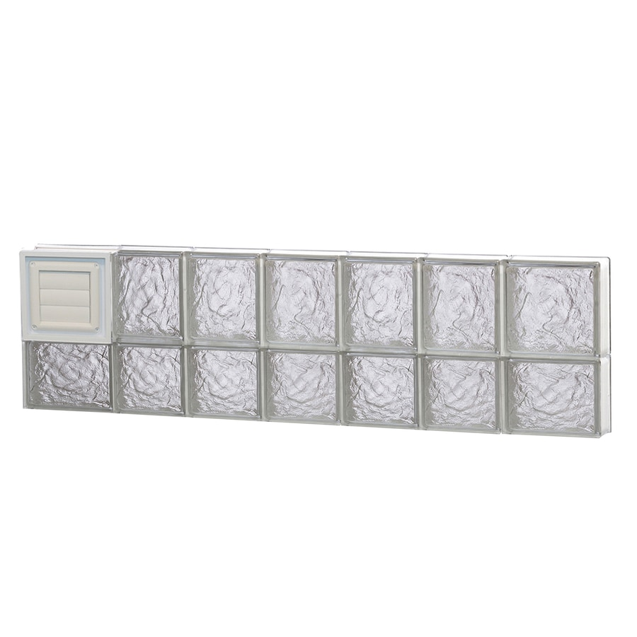REDI2SET Ice Glass Pattern Frameless Replacement Glass Block Window (Rough Opening: 46-in x 14-in; Actual: 44.25-in x 13.5-in)