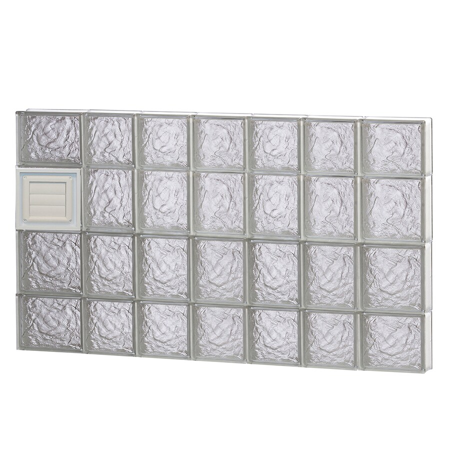 REDI2SET Ice Pattern Frameless Replacement Glass Block Window (Rough Opening: 46-in x 28-in; Actual: 44.25-in x 27-in)