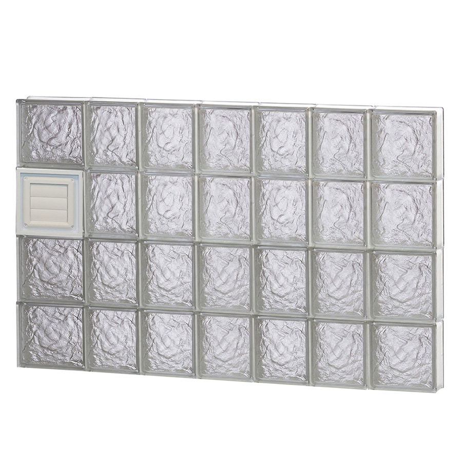 REDI2SET Ice Glass Pattern Frameless Replacement Glass Block Window (Rough Opening: 46-in x 32-in; Actual: 44.25-in x 31-in)
