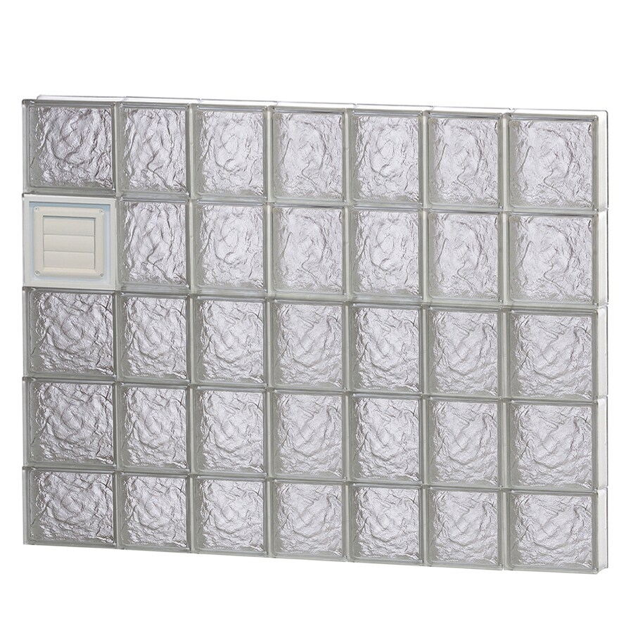 REDI2SET Ice Glass Pattern Frameless Replacement Glass Block Window (Rough Opening: 46-in x 38-in; Actual: 44.2500-in x 36.7500-in)