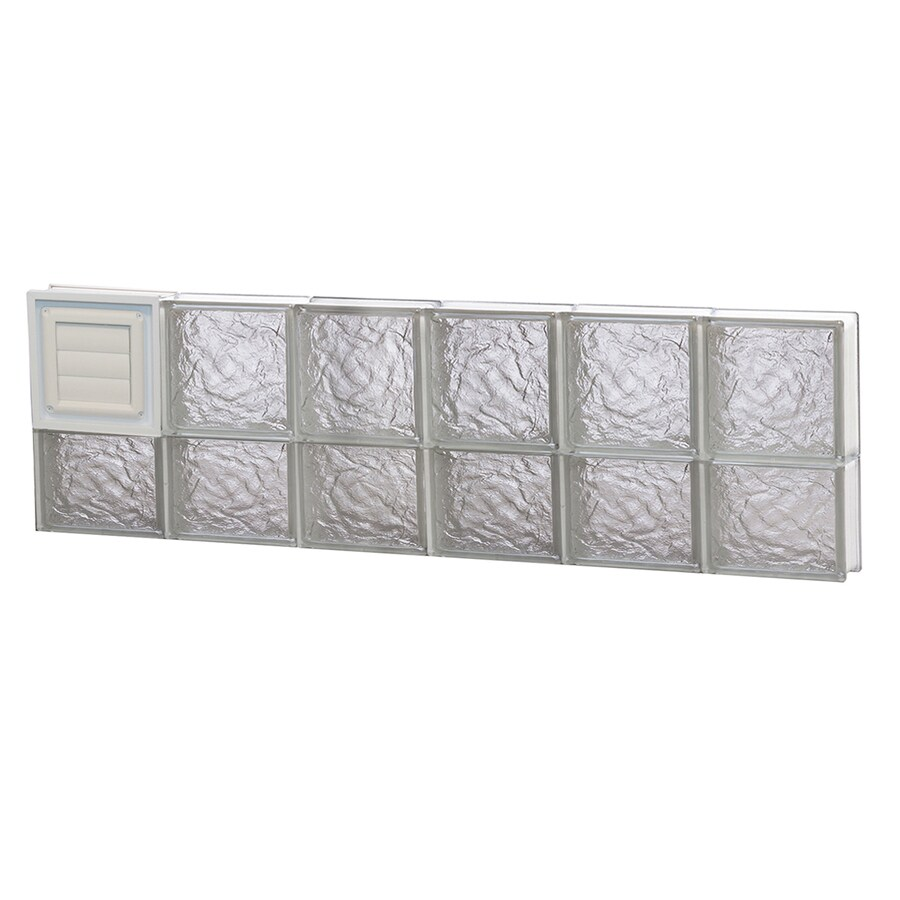 REDI2SET Ice Glass Pattern Frameless Replacement Glass Block Window (Rough Opening: 48-in x 14-in; Actual: 46.5-in x 13.5-in)
