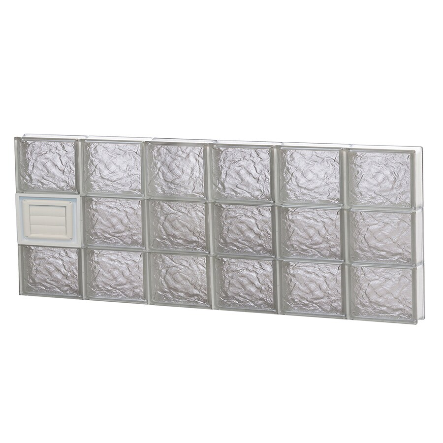 REDI2SET Ice Pattern Frameless Replacement Glass Block Window (Rough Opening: 48-in x 18-in; Actual: 46.5-in x 17.25-in)