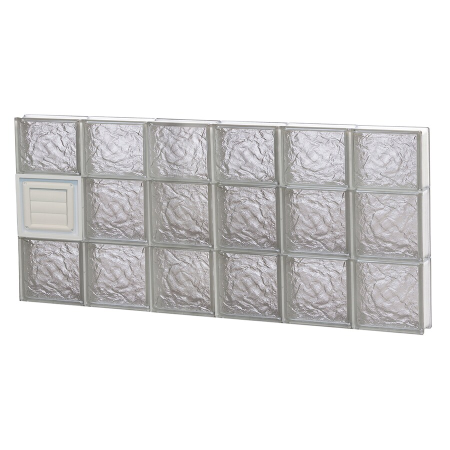 REDI2SET Ice Glass Pattern Frameless Replacement Glass Block Window (Rough Opening: 48-in x 22-in; Actual: 46.5-in x 21.25-in)
