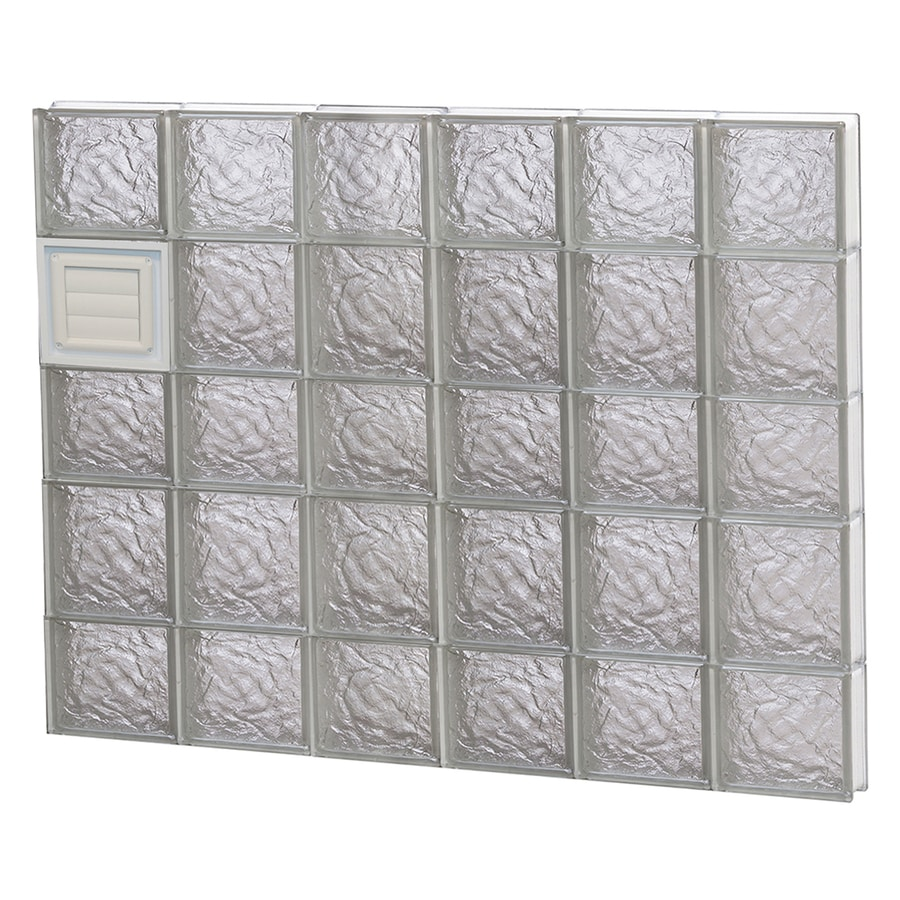 REDI2SET Ice Glass Pattern Frameless Replacement Glass Block Window (Rough Opening: 48-in x 34-in; Actual: 46.5000-in x 32.7500-in)
