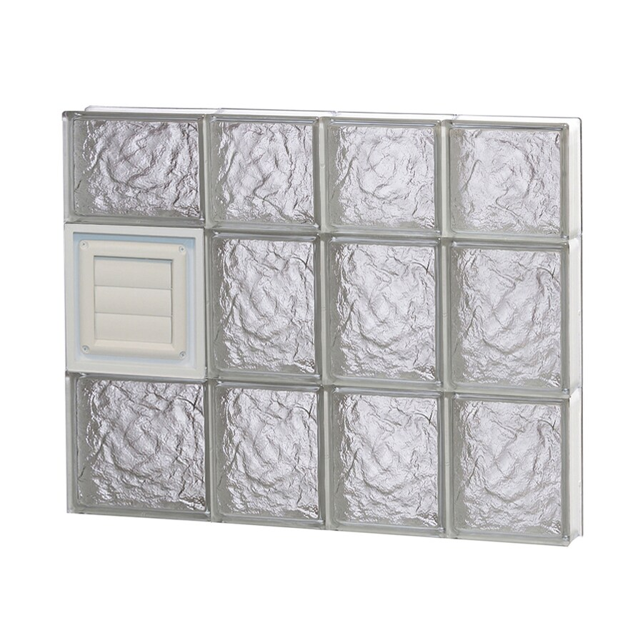 REDI2SET Ice Glass Pattern Frameless Replacement Glass Block Window (Rough Opening: 26-in x 22-in; Actual: 25-in x 21.25-in)