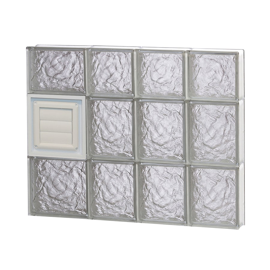 REDI2SET Ice Pattern Frameless Replacement Glass Block Window (Rough Opening: 26-in x 22-in; Actual: 25-in x 21.25-in)