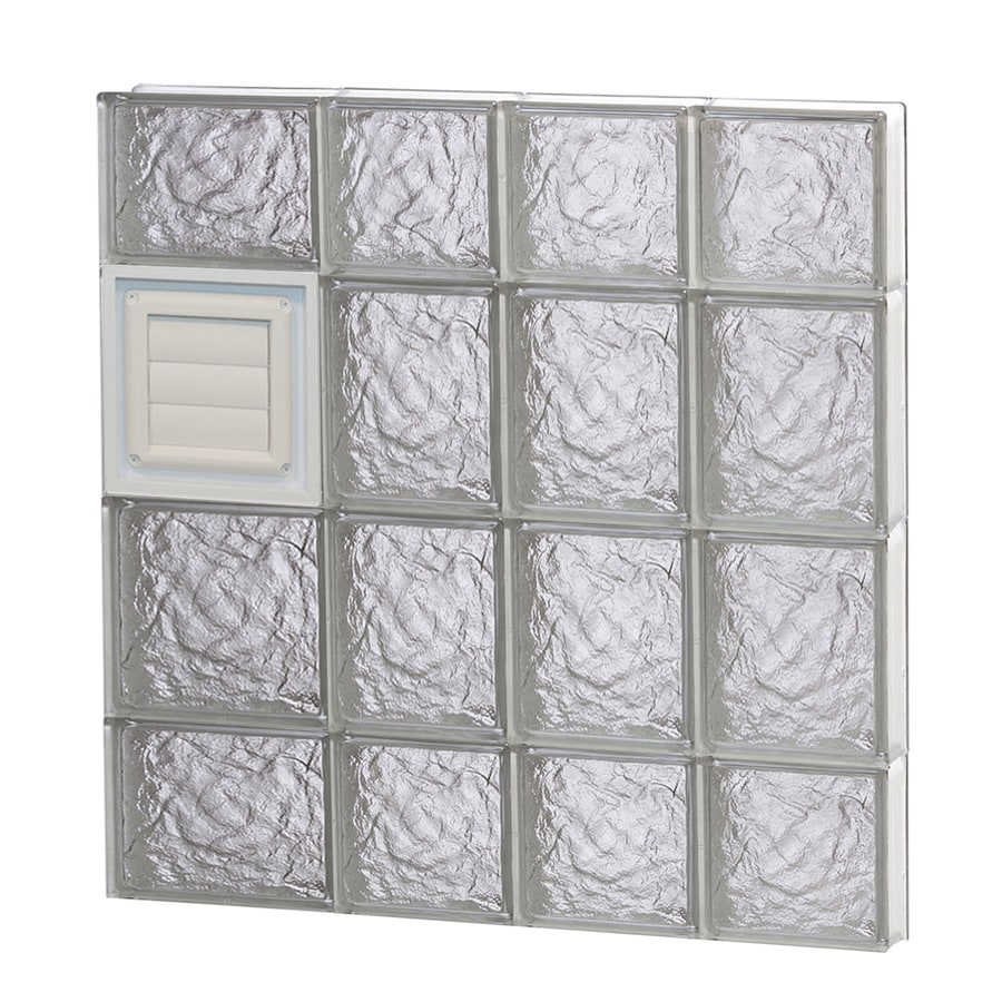 REDI2SET Ice Glass Pattern Frameless Replacement Glass Block Window (Rough Opening: 26-in x 28-in; Actual: 25-in x 27-in)