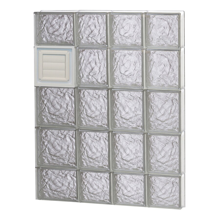 REDI2SET Ice Glass Pattern Frameless Replacement Glass Block Window (Rough Opening: 26-in x 36-in; Actual: 25-in x 34.75-in)
