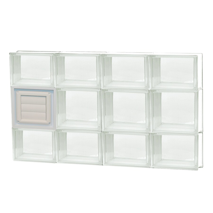 REDI2SET Clear Glass Pattern Frameless Replacement Glass Block Window (Rough Opening: 32-in x 20-in; Actual: 31-in x 19.25-in)