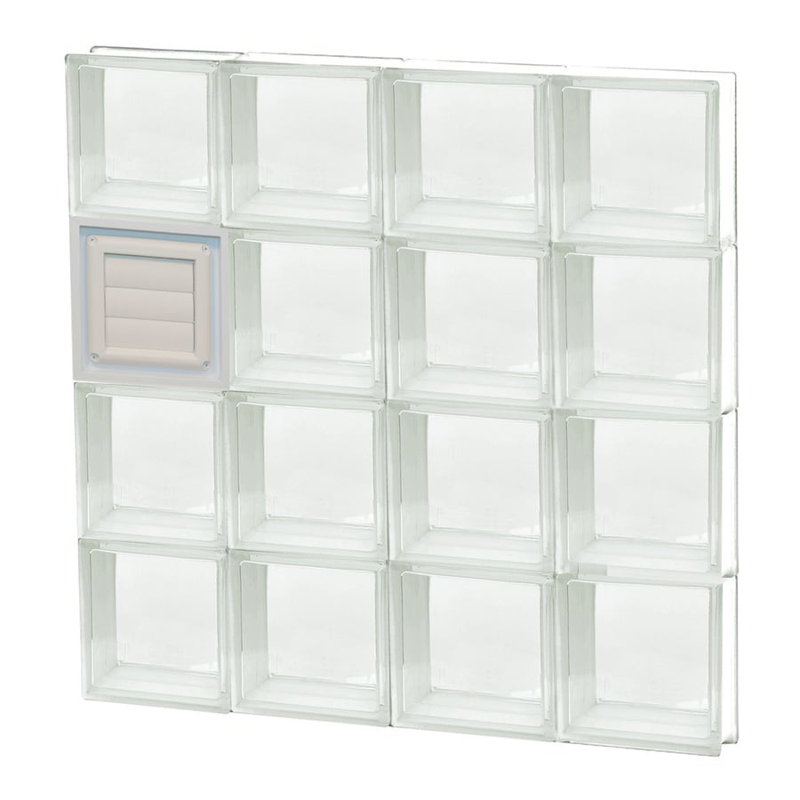 REDI2SET Clear Glass Pattern Frameless Replacement Glass Block Window (Rough Opening: 32-in x 32-in; Actual: 31-in x 31-in)