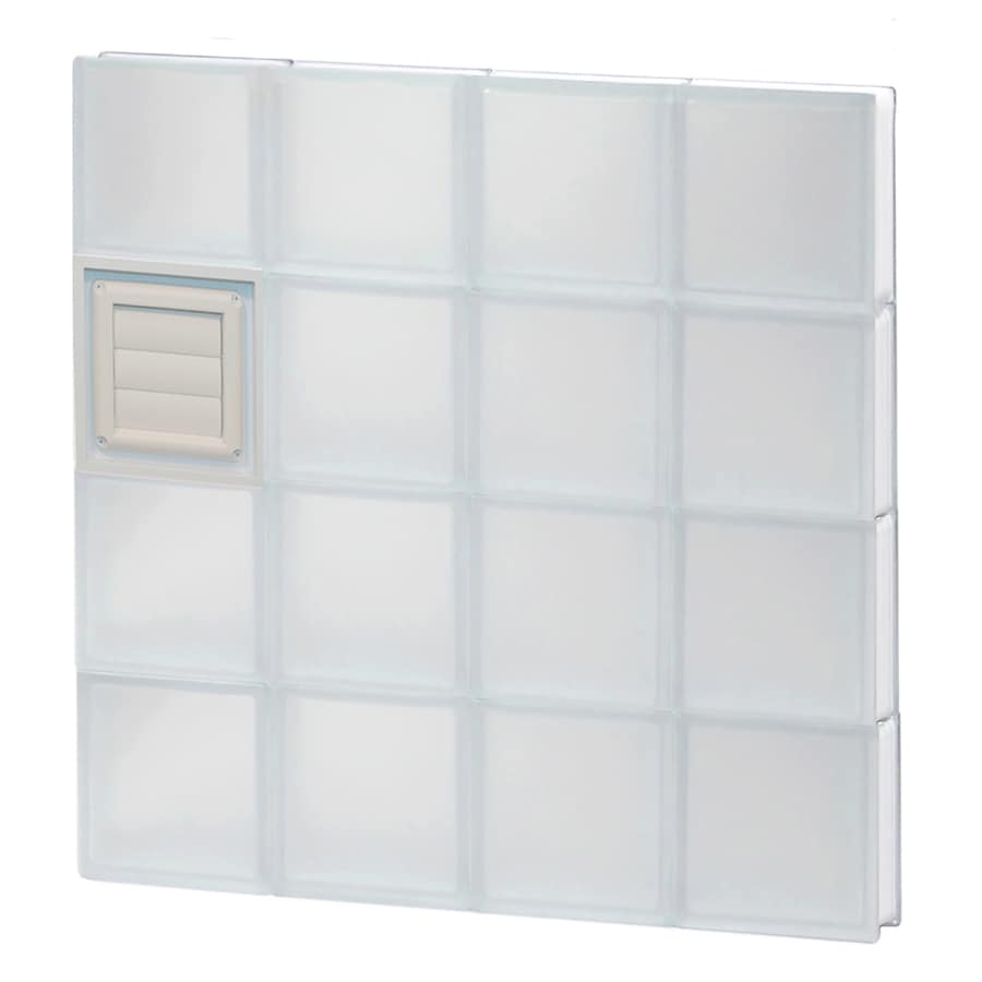 REDI2SET Frosted Glass Pattern Frameless Replacement Glass Block Window (Rough Opening: 32-in x 32-in; Actual: 31-in x 31-in)