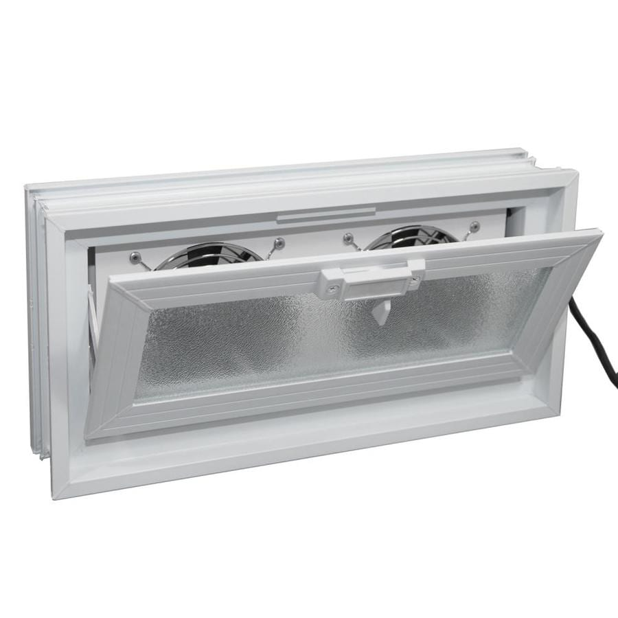 REDI2SET Glass Block Vent (Common: 16-in W x 8-in H x 3-in D; Actual: 15.5-in W x 7.75-in H x 3.125-in D)