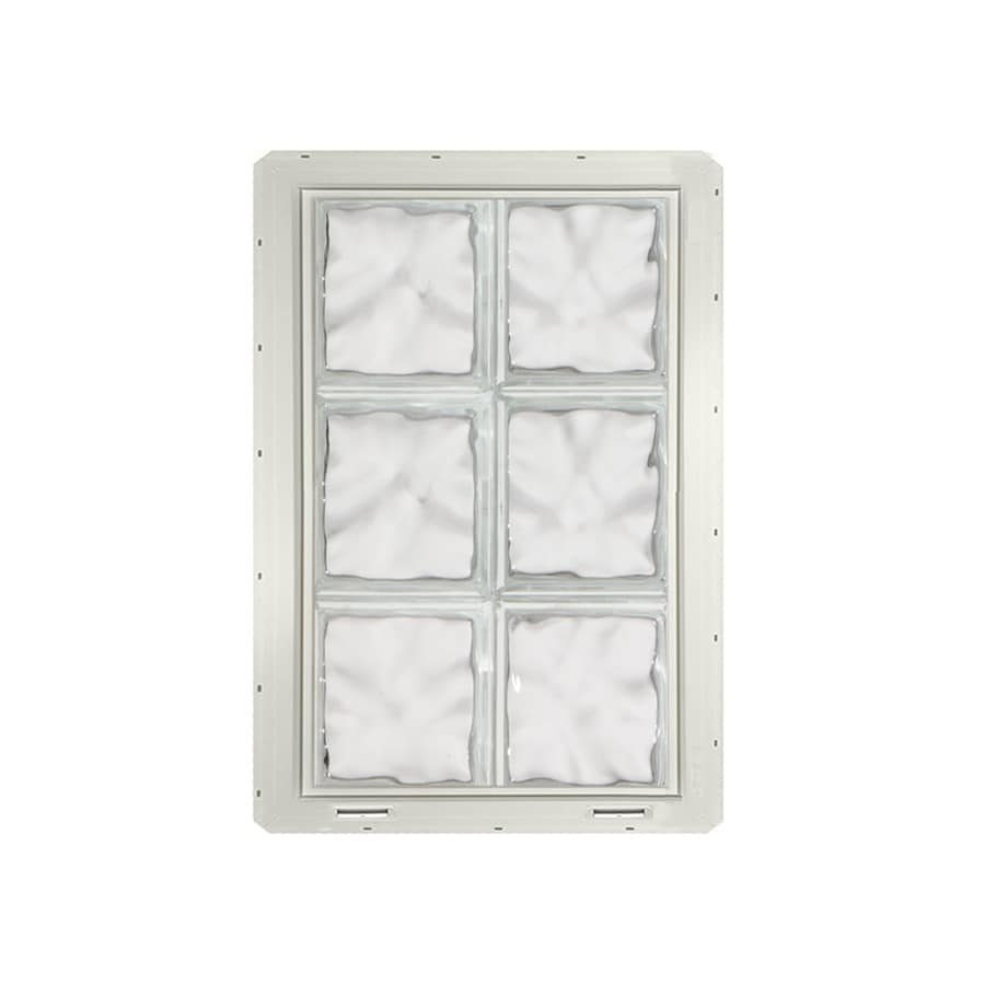 CrystaLok Wavy Pattern Vinyl Glass Block Window (Rough Opening: 17.75-in x 25.5-in; Actual: 16.75-in x 24.25-in)
