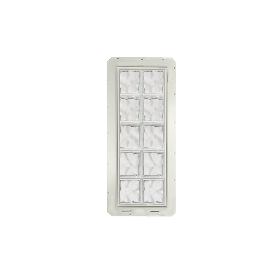 CrystaLok Wavy Pattern Vinyl New Construction Glass Block Window (Rough Opening: 17.75-in x 41-in; Actual: 16.75-in x 39.25-in)