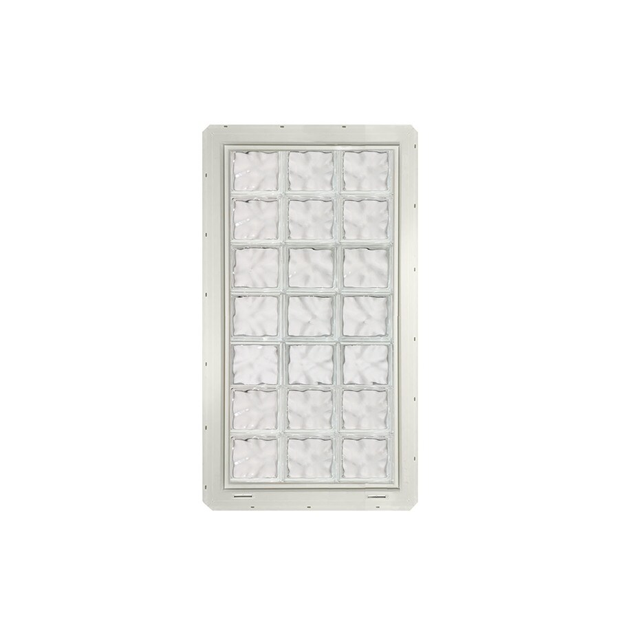 CrystaLok Wavy Pattern Vinyl New Construction Glass Block Window (Rough Opening: 25.5-in x 56.5-in; Actual: 24.25-in x 54.25-in)