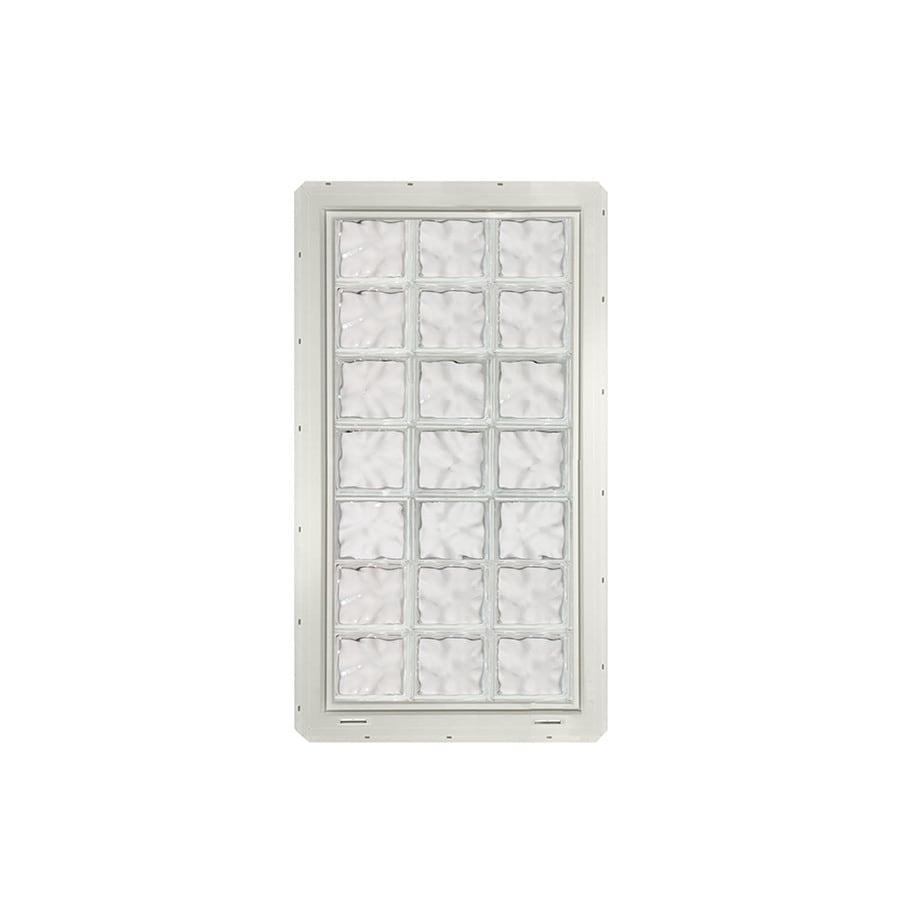 CrystaLok Wavy Pattern Vinyl Glass Block Window (Rough Opening: 25.5-in x 56.5-in; Actual: 24.25-in x 54.25-in)
