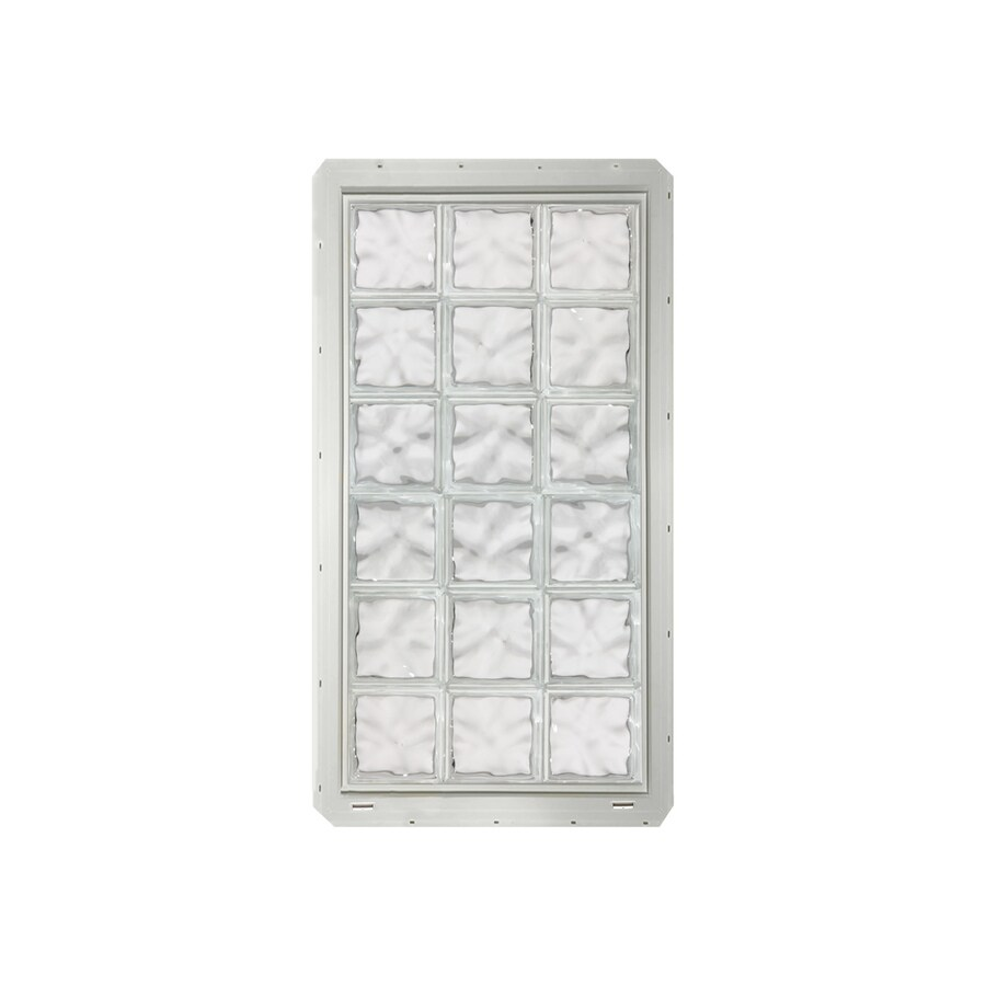 CrystaLok Wavy Pattern Vinyl Glass Block Window (Rough Opening: 25.5-in x 64.25-in; Actual: 24.25-in x 61.75-in)