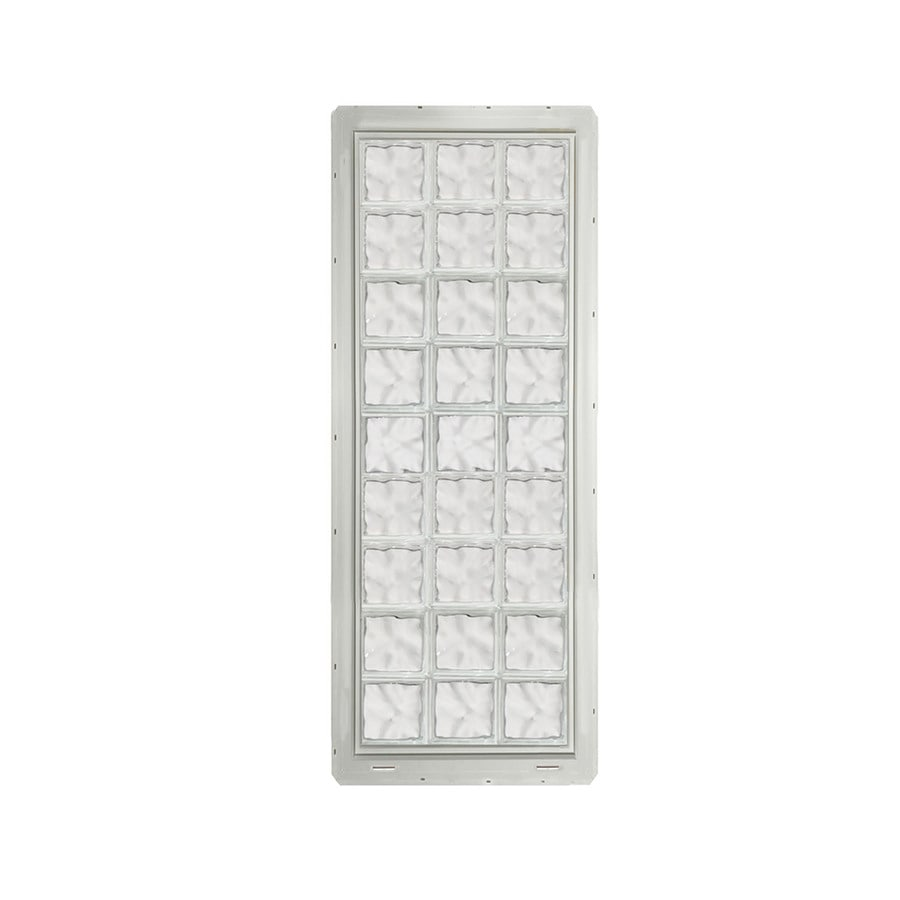 CrystaLok Wavy pattern Vinyl New Construction Glass Block Window (Rough Opening: 25.5-in x 72-in; Actual: 24.25-in x 69.25-in)