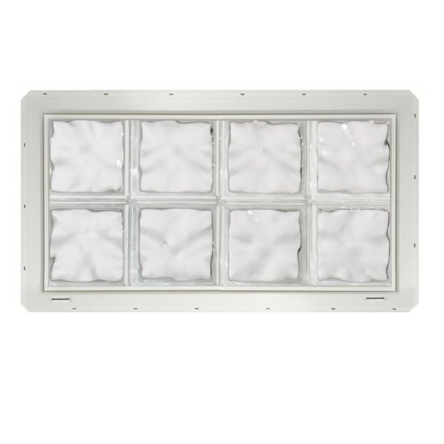 Shop crystalok wavy pattern vinyl glass block window for Glass block window frame
