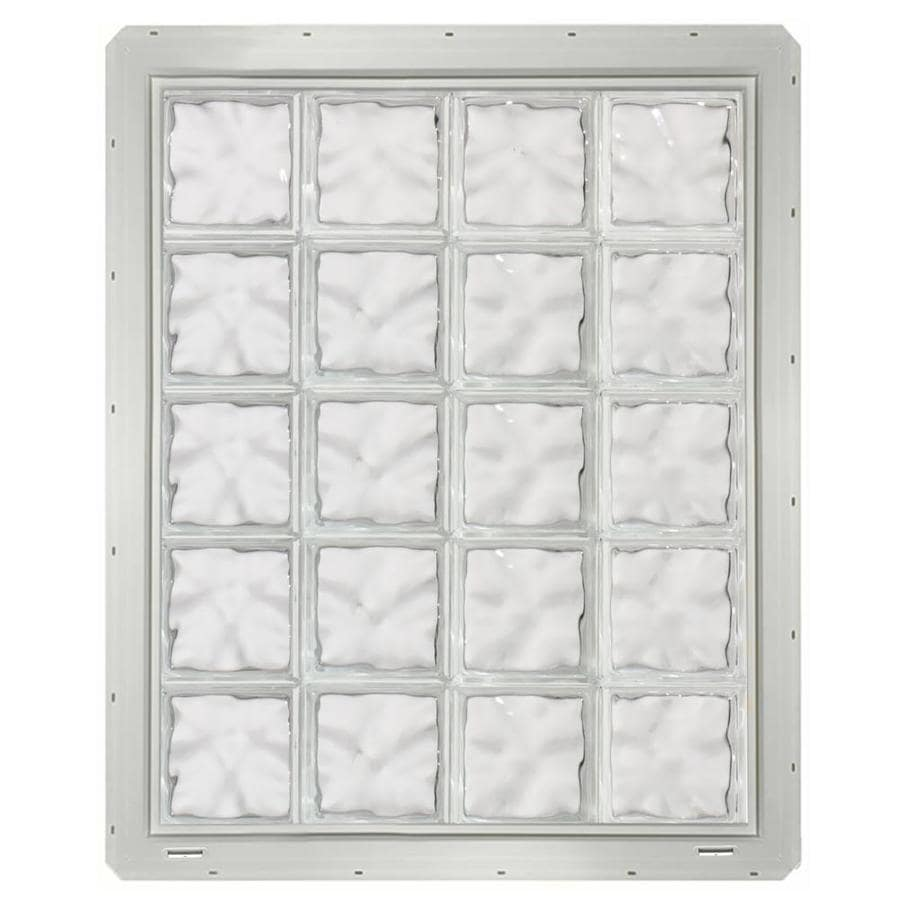 CrystaLok Wavy Pattern Vinyl Glass Block Window (Rough Opening: 33.25-in x 41-in; Actual: 31.75-in x 39.25-in)