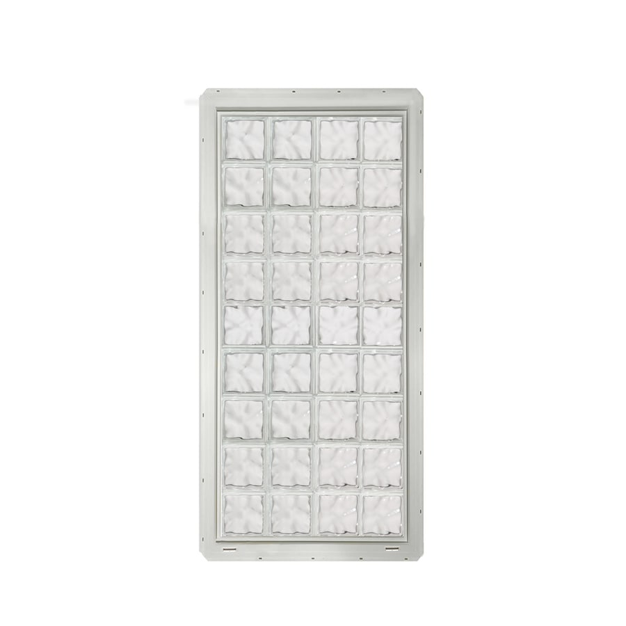 CrystaLok Wavy Pattern Vinyl Glass Block Window (Rough Opening: 33.25-in x 72-in; Actual: 31.75-in x 69.25-in)