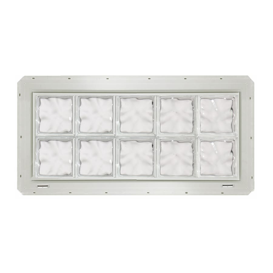 CrystaLok Wavy Pattern Vinyl Glass Block Window (Rough Opening: 41-in x 17.75-in; Actual: 39.25-in x 16.75-in)