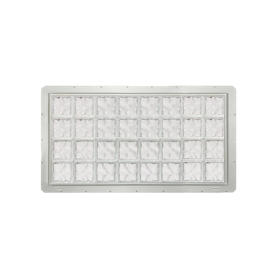 CrystaLok Wavy Pattern Vinyl New Construction Glass Block Window (Rough Opening: 64.2500-in x 33.2500-in; Actual: 61.7500-in x 31.7500-in)
