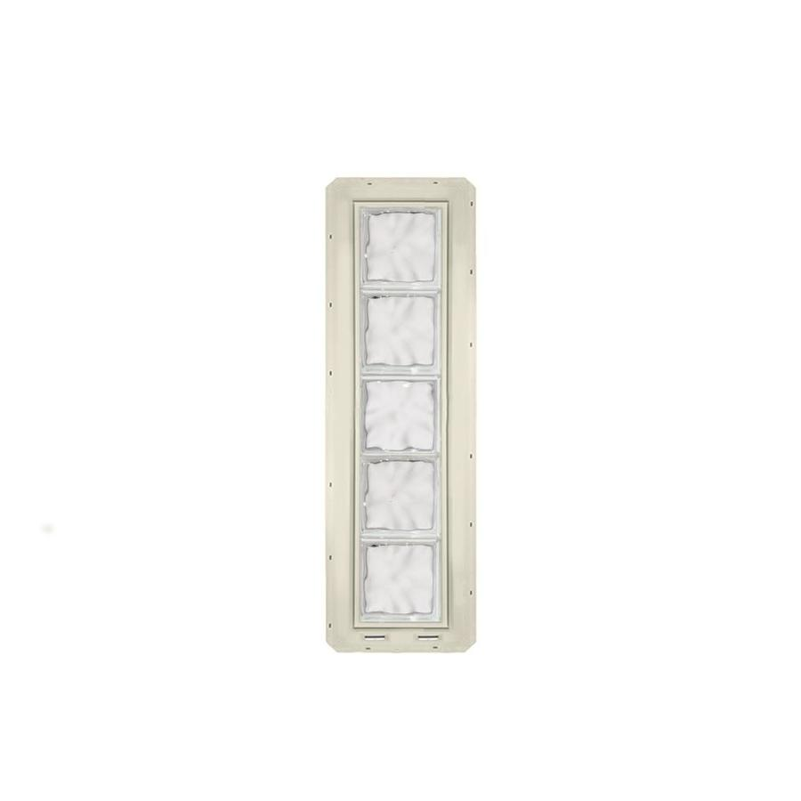 CrystaLok Wavy pattern Vinyl New Construction Glass Block Window (Rough Opening: 10-in x 41-in; Actual: 9.25-in x 39.25-in)