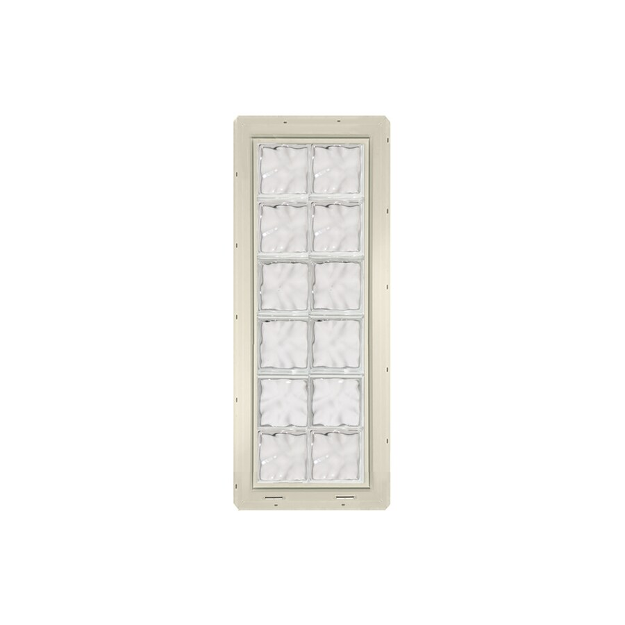 CrystaLok Wavy Pattern Vinyl New Construction Glass Block Window (Rough Opening: 17.75-in x 48.75-in; Actual: 16.75-in x 46.75-in)