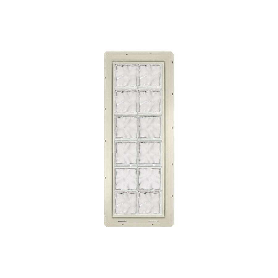 CrystaLok Wavy Pattern Vinyl Glass Block Window (Rough Opening: 17.75-in x 48.75-in; Actual: 16.75-in x 46.75-in)