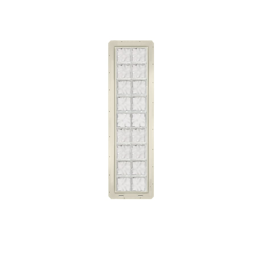 CrystaLok Wavy Pattern Vinyl New Construction Glass Block Window (Rough Opening: 17.75-in x 72-in; Actual: 16.75-in x 69.25-in)
