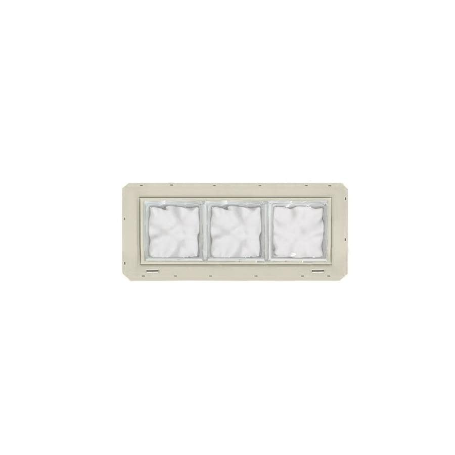 CrystaLok Wavy pattern Vinyl New Construction Glass Block Window (Rough Opening: 25.5-in x 10-in; Actual: 24.25-in x 9.25-in)