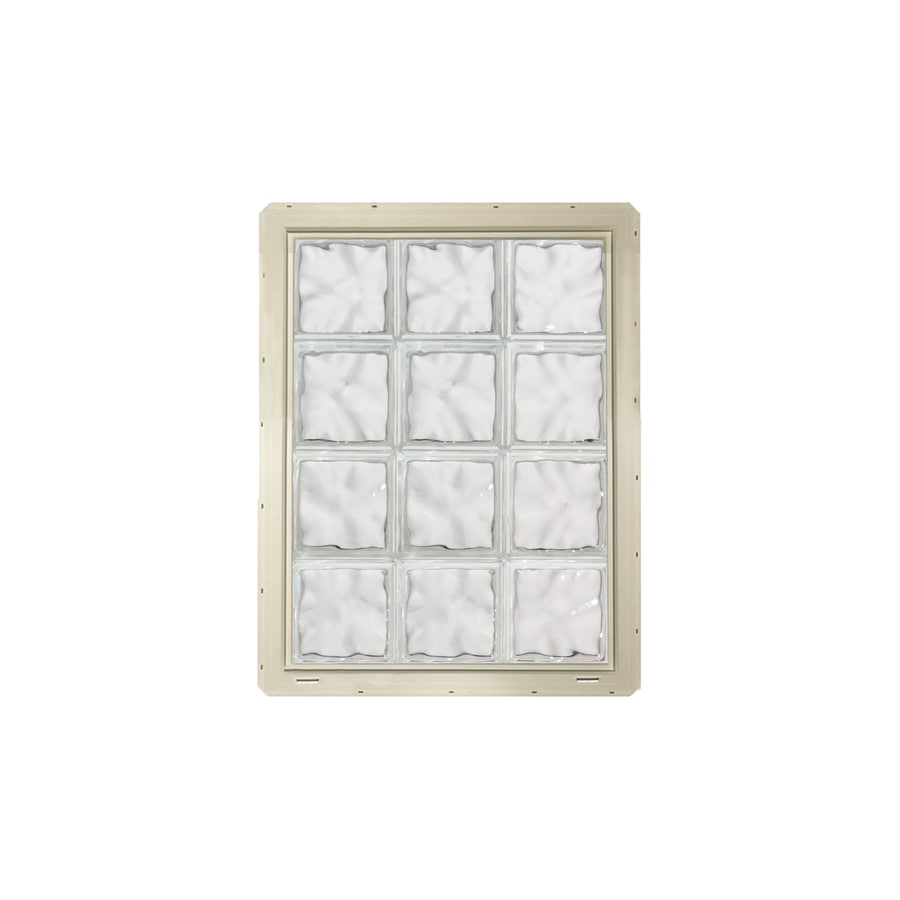CrystaLok Wavy Pattern Vinyl Glass Block Window (Rough Opening: 25.5-in x 33.25-in; Actual: 24.25-in x 31.75-in)