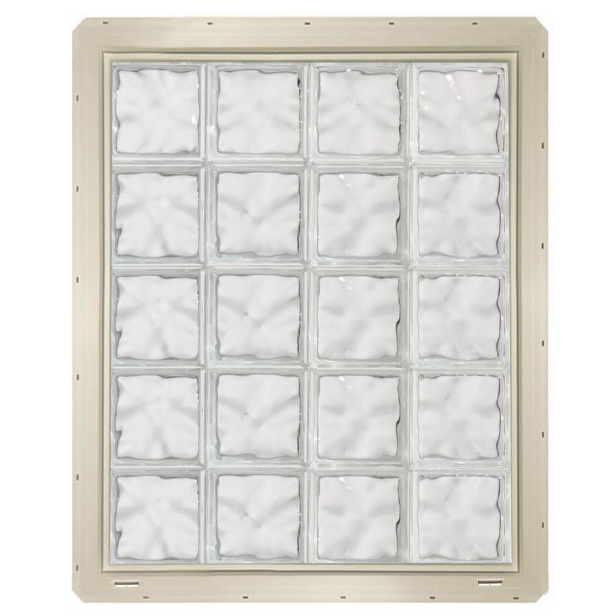 CrystaLok Wavy Pattern Vinyl Glass Block Window (Rough Opening: 33.25-in x 41-in; Actual: 31.75-in x 39.25-in)
