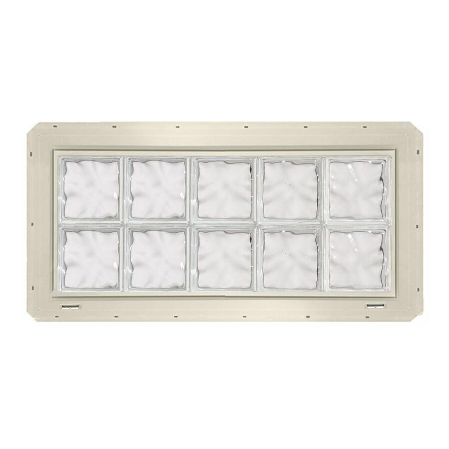 CrystaLok Wavy Pattern Vinyl Glass Block Window (Rough Opening: 41-in x 17.75-in; Actual: 39.25-in x 16.75-in)