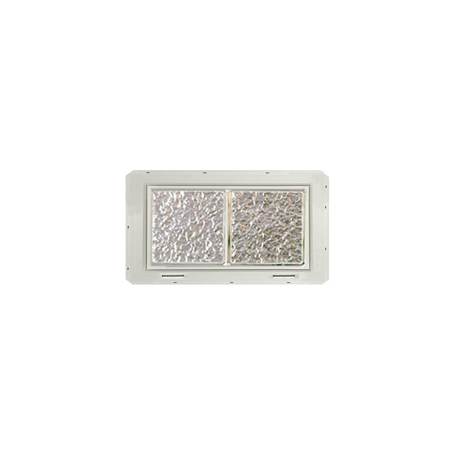CrystaLok Ice pattern Vinyl New Construction Glass Block Window (Rough Opening: 17.75-in x 10-in; Actual: 16.75-in x 9.25-in)