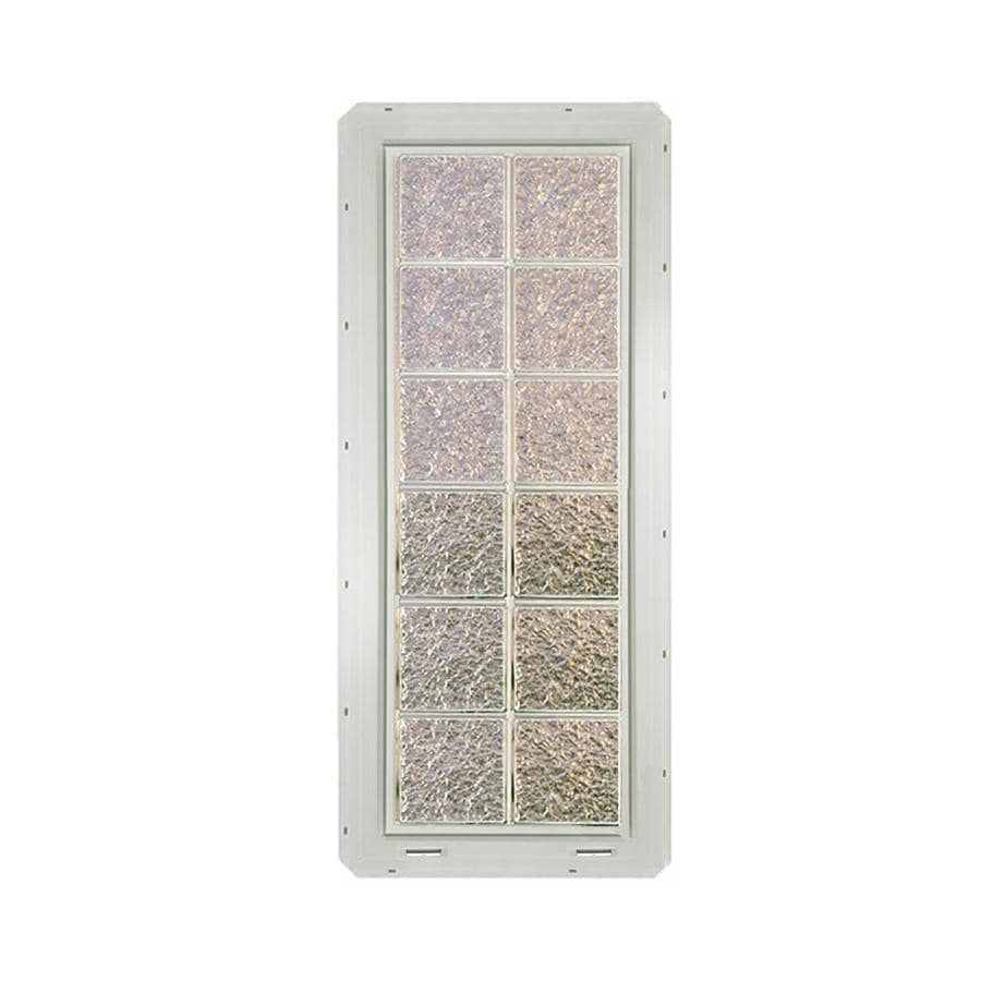 CrystaLok Ice Pattern Vinyl Glass Block Window (Rough Opening: 17.75-in x 48.75-in; Actual: 16.75-in x 46.75-in)