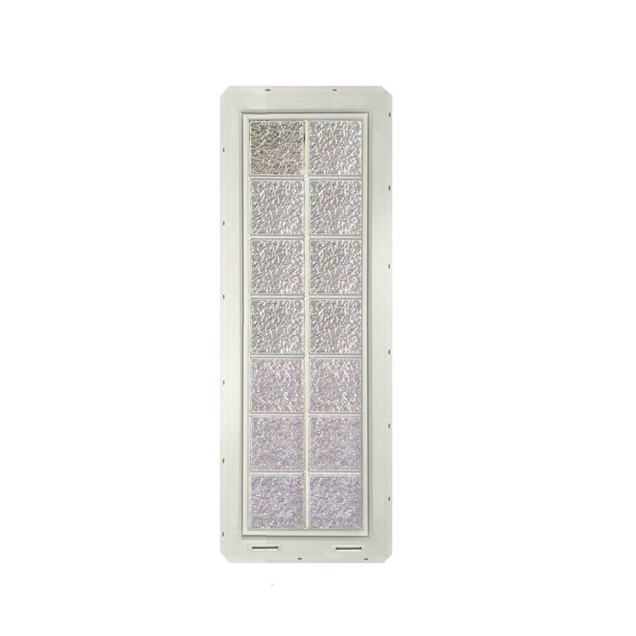 CrystaLok Ice Pattern Vinyl Glass Block Window (Rough Opening: 17.75-in x 56.5-in; Actual: 16.75-in x 54.25-in)