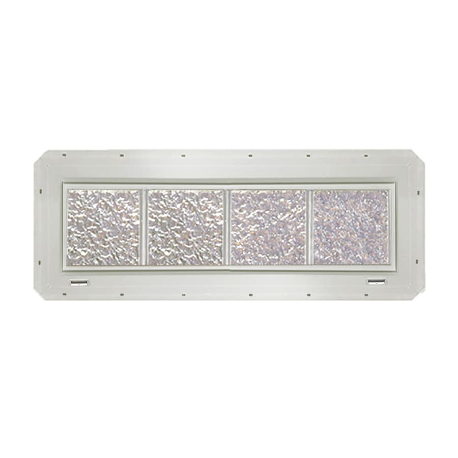 CrystaLok Ice Pattern Vinyl Glass Block Window (Rough Opening: 33.25-in x 10-in; Actual: 31.75-in x 9.25-in)