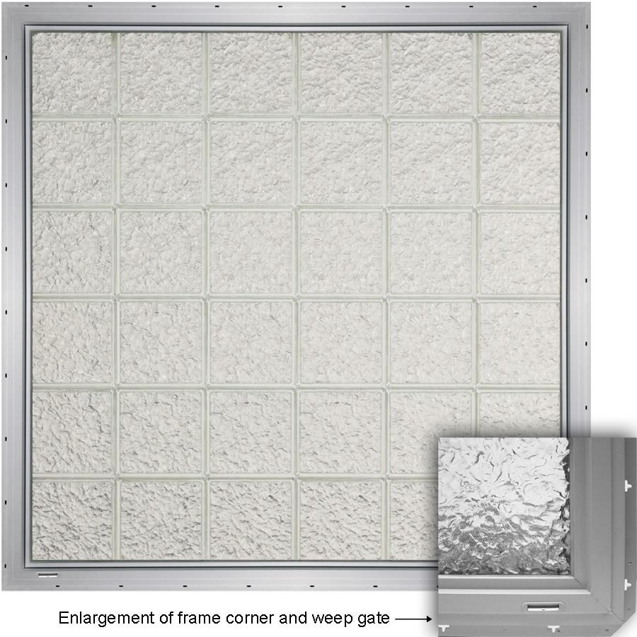 CrystaLok Ice Pattern Vinyl Glass Block Window (Rough Opening: 33.25-in x 79.75-in; Actual: 31.75-in x 76.75-in)