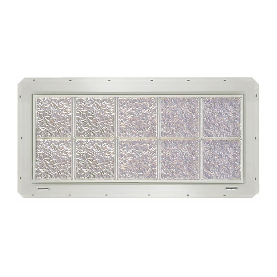 CrystaLok Ice Pattern Vinyl Glass Block Window (Rough Opening: 41-in x 17.75-in; Actual: 39.25-in x 16.75-in)