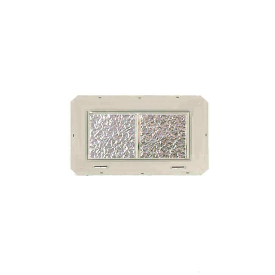 CrystaLok Ice Pattern Vinyl Glass Block Window (Rough Opening: 17.75-in x 10-in; Actual: 16.75-in x 9.25-in)