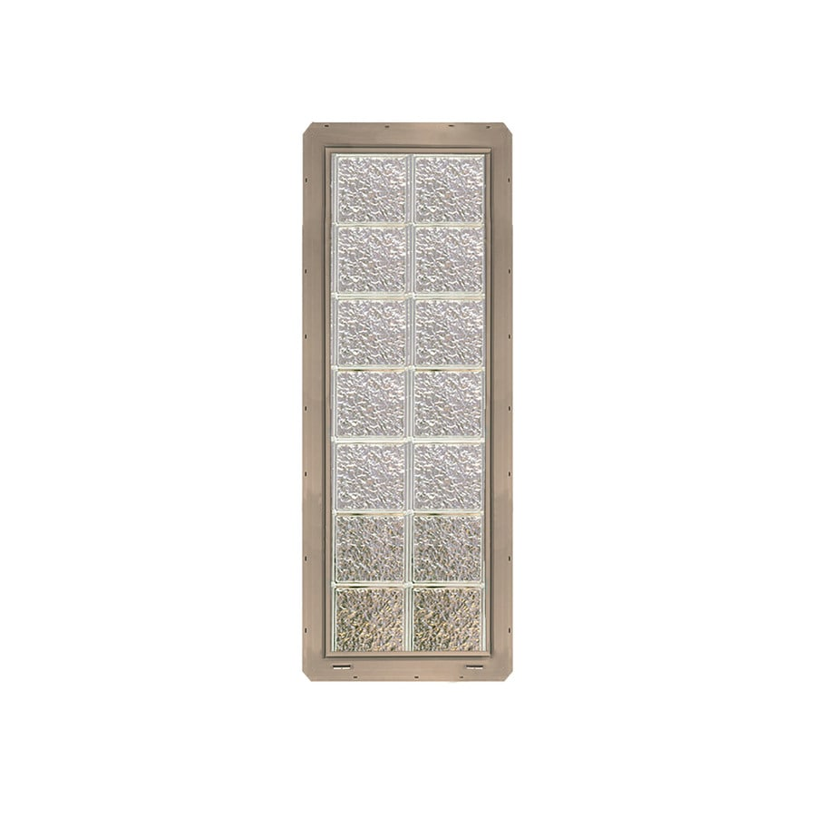 CrystaLok Ice Pattern Vinyl Glass Block Window (Rough Opening: 17.75-in x 56.5-in; Actual: 16.75-in x 54.25-in)