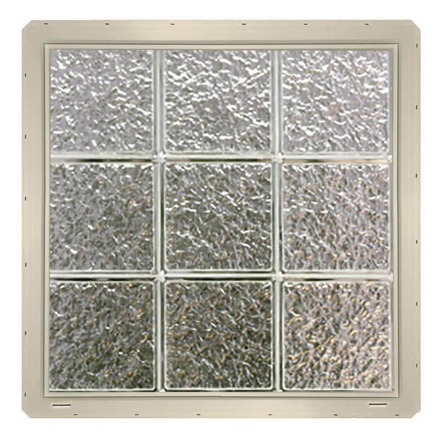 Shop crystalok ice pattern vinyl new construction glass for Pre assembled glass block windows