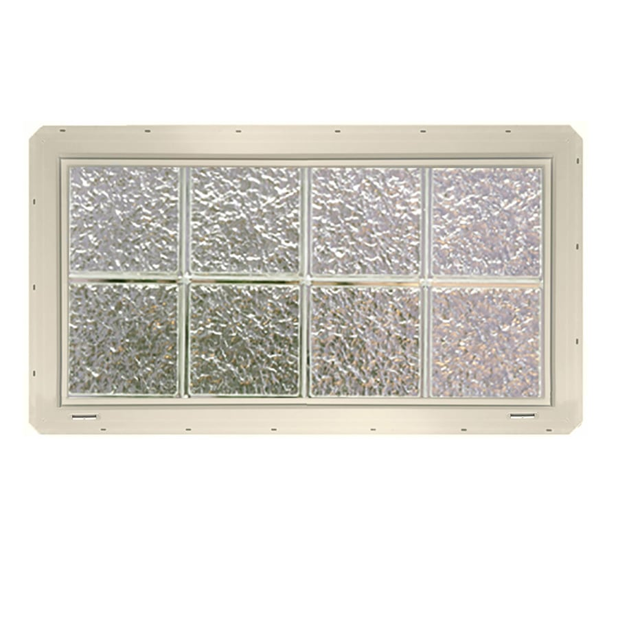 CrystaLok Ice Pattern Vinyl Glass Block Window (Rough Opening: 33.25-in x 17.75-in; Actual: 31.75-in x 16.75-in)