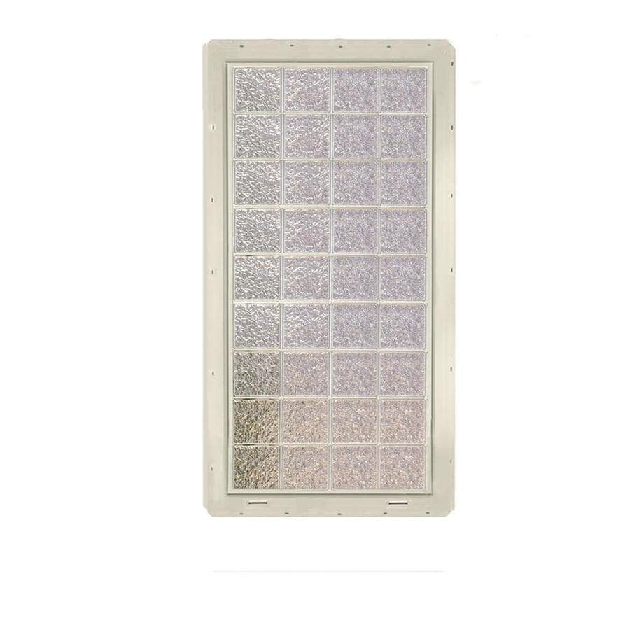 CrystaLok Ice Pattern Vinyl Glass Block Window (Rough Opening: 33.25-in x 72-in; Actual: 31.75-in x 69.25-in)