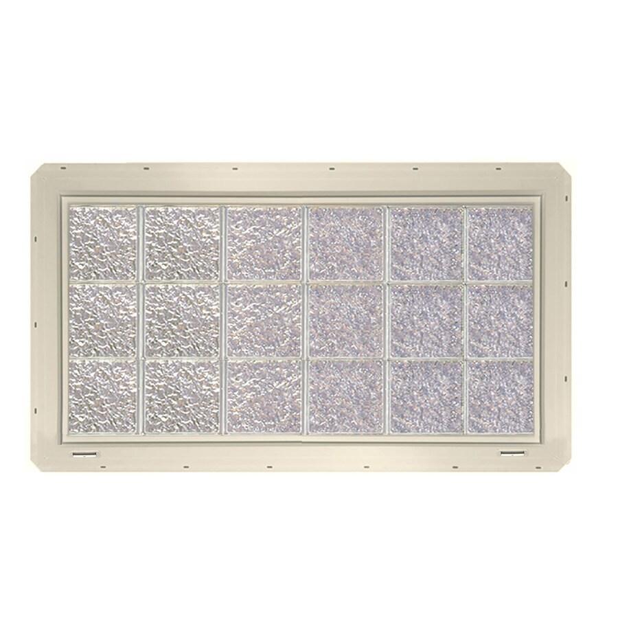 CrystaLok Ice Pattern Vinyl Glass Block Window (Rough Opening: 48.75-in x 25.5-in; Actual: 46.75-in x 24.25-in)
