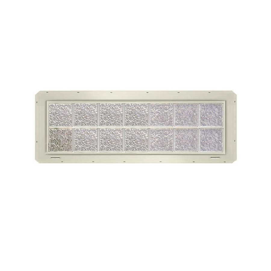 CrystaLok Ice Pattern Vinyl Glass Block Window (Rough Opening: 56.5-in x 17.75-in; Actual: 54.25-in x 16.75-in)