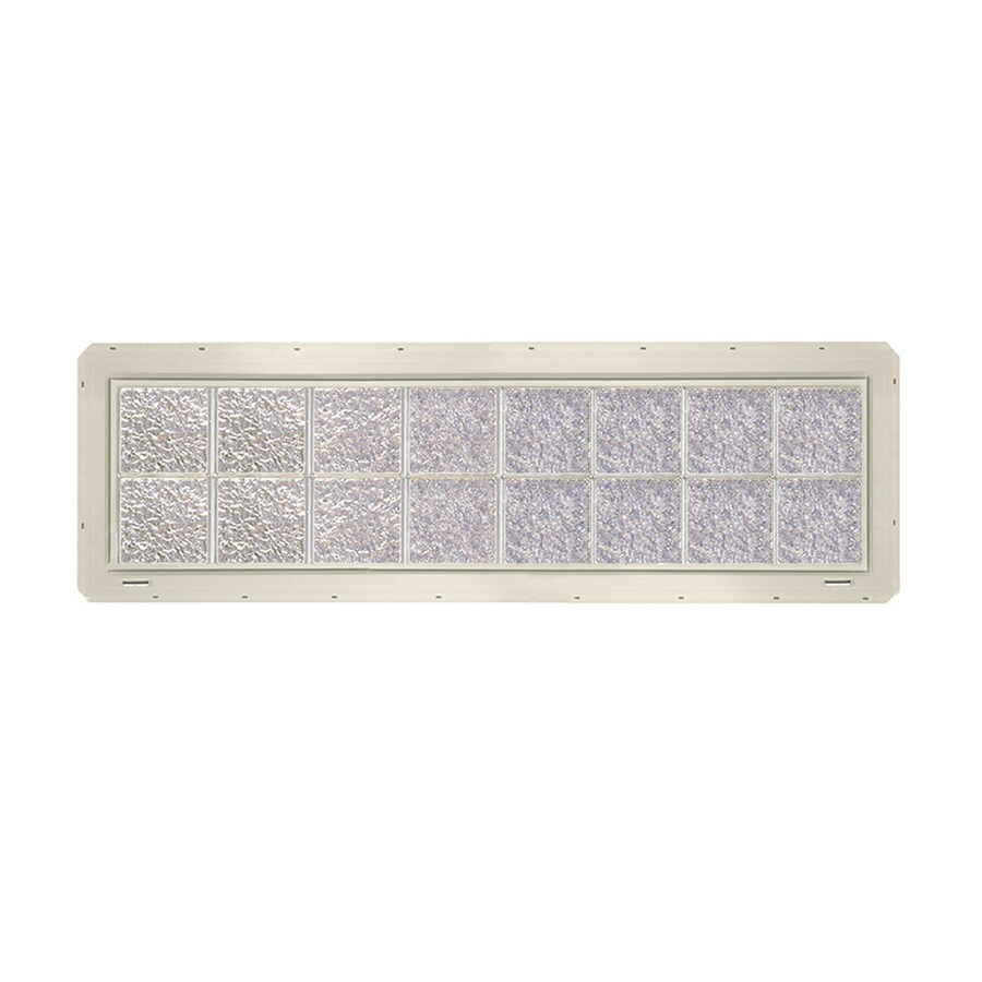 CrystaLok Ice Pattern Vinyl Glass Block Window (Rough Opening: 64.25-in x 17.75-in; Actual: 61.75-in x 16.75-in)